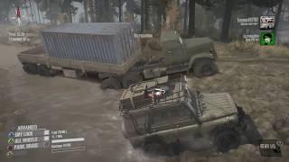 SpinTires Mud Runner: PC MULTIPLAYER Let's Play, Part 1! | GARAGE UNLOCKED!