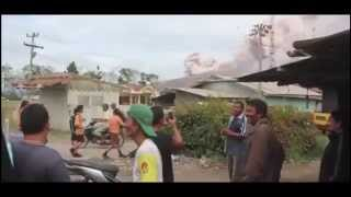 Volcano erupted on Indonesian island