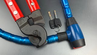 [767] Bunker Hill Security Armored Cable Lock Cut EASILY
