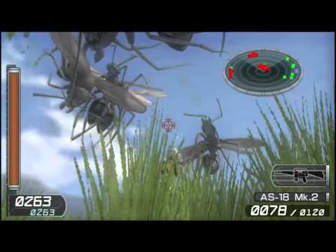 Earth Defense Force 2: Invaders from Planet Space Vita Gameplay