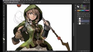 Character Design - Cleric/Mage (Photoshop Time Lapse)