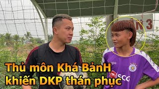 Thử Thách Bóng Đá với thủ môn Khá Bảnh nhí trổ tài bắt Penalty múa quạt như Đặng Văn Lâm ĐT Việt Nam