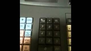 Cash register instructions