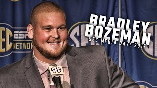 Alabama OL Bradley Bozeman speaks at SEC Media Days 2017