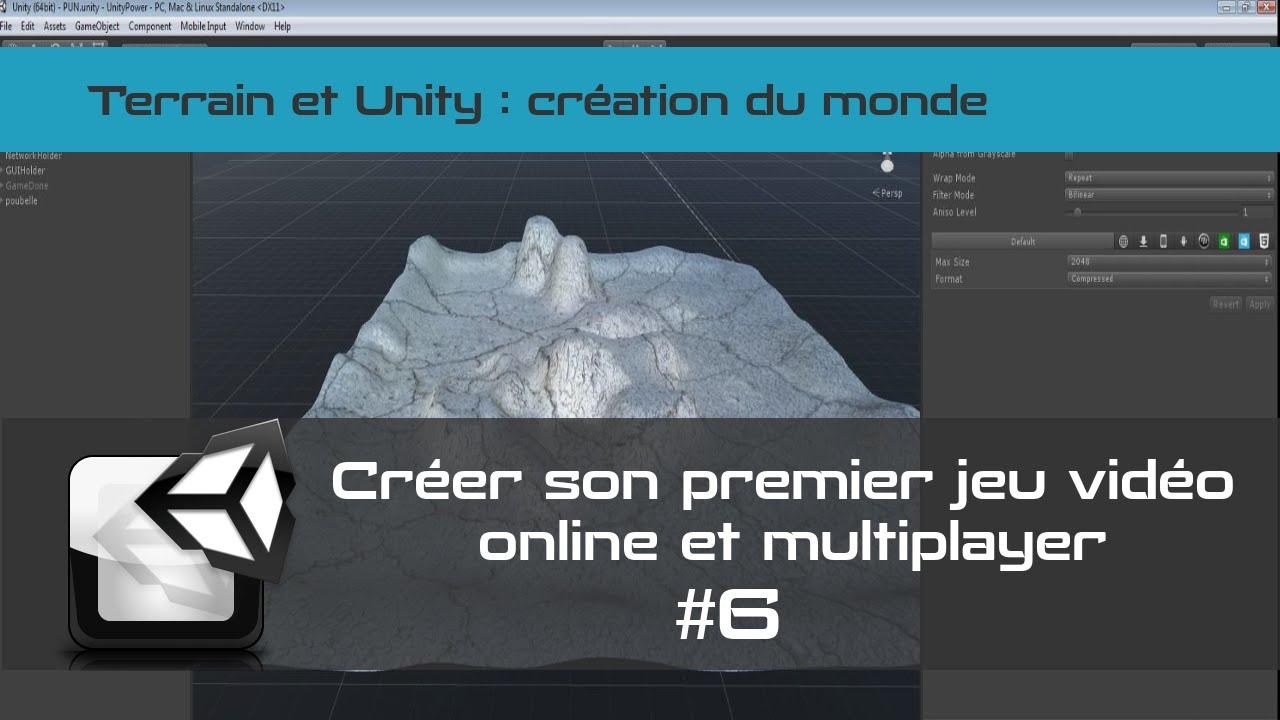 [TUTO Unity3D FR] Unity 5 - Créer un jeu vidéo online et multiplayer #6- Terrain