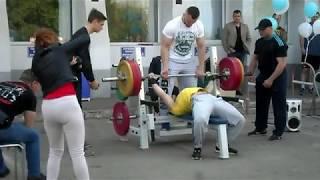 "Жим лёжа IRON GAMES 2019  Краматорск fitness club ""MAX"""