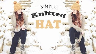 Simple Knitted Hat Tutorial // Knitting for Beginners // HOW TO KNIT & PURL // Veronica Marie