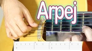 Gitar Dersi 7 - Arpej Nedir - Arpej çalmak - AH BU BEN Nasıl çalınır?