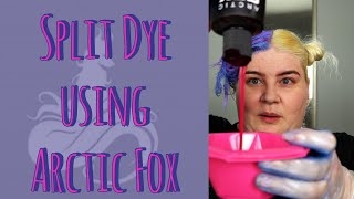 DIY Split Dye Pastel And Bright Using Arctic Fox Hair Color