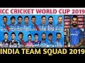 ICC Cricket World Cup 2019 India Team Squad | India 16 Players Predicted Squad For World Cup 2019