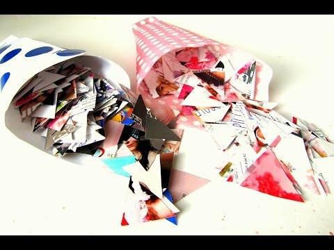 Sacchetti per coriandoli fatti in casa - Tutorial