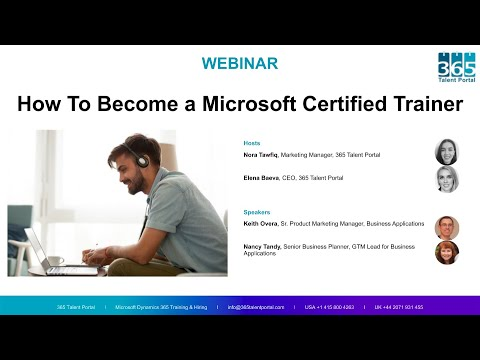 [Webinar]: How to Become a Microsoft Certified Trainer I 365 Talent ...