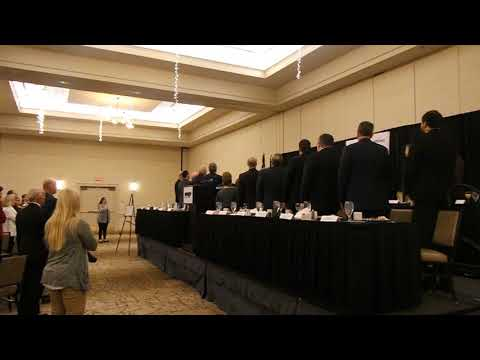 Video: Johnson Elementary students lead the Pledge of Allegiance at the Regional Legislative Breakfast.