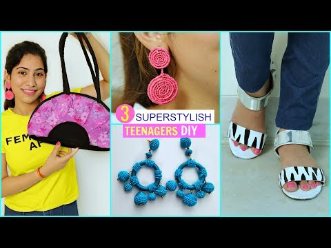 3 SUPER STYLISH DIY For TEENAGERS |  #Fashion #Styling #DIYQueen