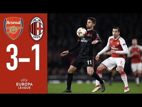 Highlights Arsenal 3-1 AC Milan - 2017/18 Europa League Round of 16 Seocnd leg