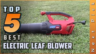 Top 5 Best Electric Leaf Blower Review In 2020 | Best Offers