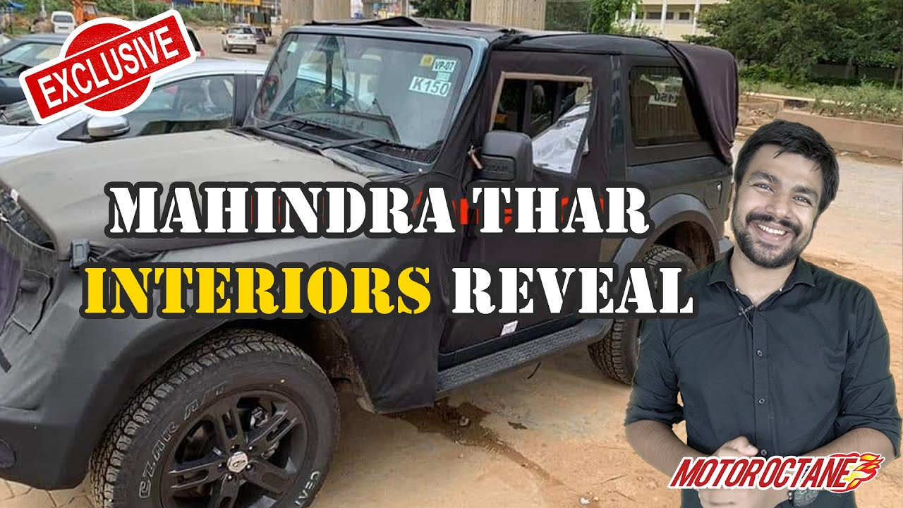 Motoroctane Youtube Video - Mahindra Thar - Interior Images LEAKED | Hindi | MotorOctane