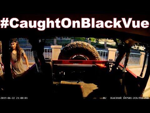 Jeep Door Thief Caught On BlackVue
