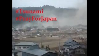 Detik  Detik Tsunami Menghantam Fukushima Japan PrayForJapan