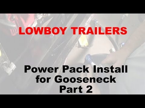 Power Pack Install for Gooseneck Lowboys Part2