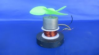 Free energy motor with fan using wire self running - New idea at home easy