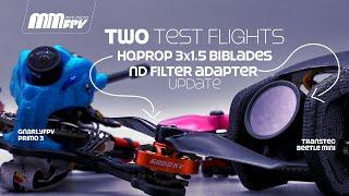 Two Test Flights / HQProp 3x1.5 Biblades / Updated DJI Digital ND Filter Adapter фото