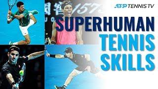 Superhuman Tennis Skills! Djokovic Flexibility Federer Hand Skills & More…