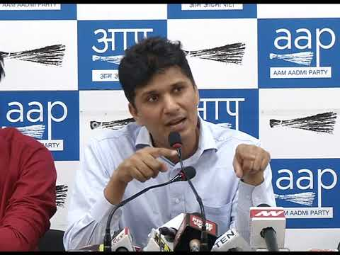 AAP Chief Spokesperson Briefs Media on Vinay Bansal PWD issue.