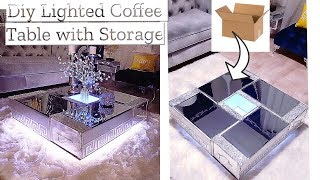 DIY FLOATING COFFEE TABLE WITH FABRIC BOARDS| HOME DECORATING IDEAS ON A BUDGET!