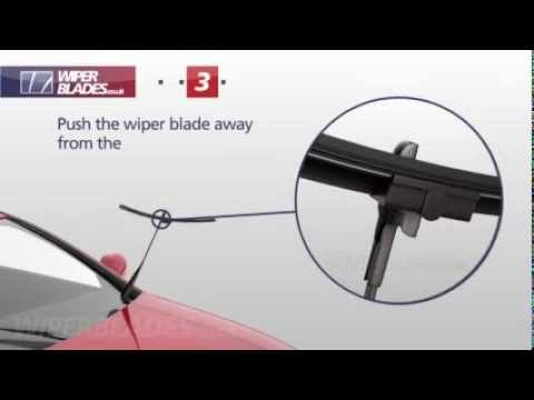How to Remove and Fit WBTR-2 Aerowiper Side Pin Flat Wiper Blades