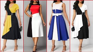 Top Class Stylish And Trendy Designer Midi/Knee Length Dresses