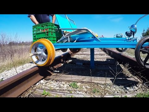 Go Kart on Railroad Tracks on abandoned tracks- How it works