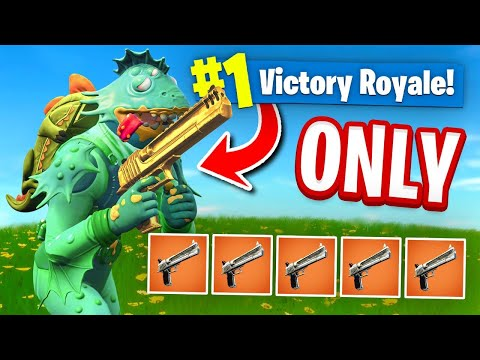 USING *ONLY* The HAND CANNON To WIN In Fortnite Battle Royale (Challenge)