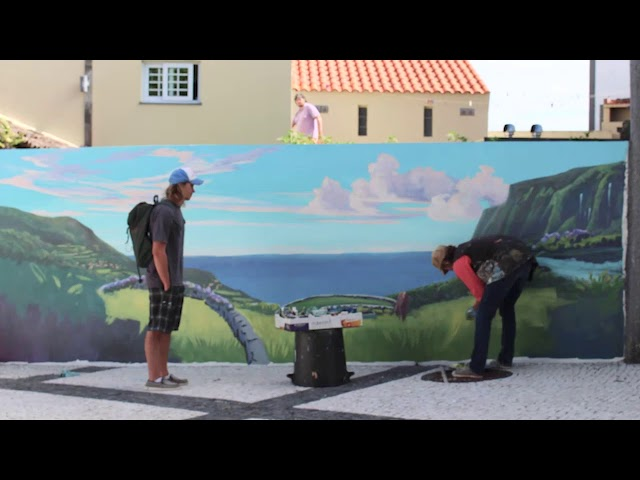 Nature is Home: Plaza Landscape Mural