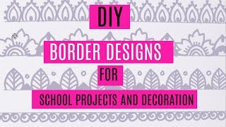 10 Simple Border Design For Decoration And Art Projects/Zentangle Pattern