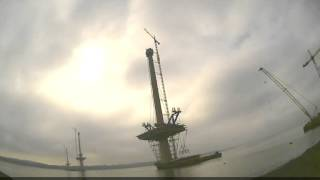 Queensferry Crossing - First Deck Lifts - September 2015
