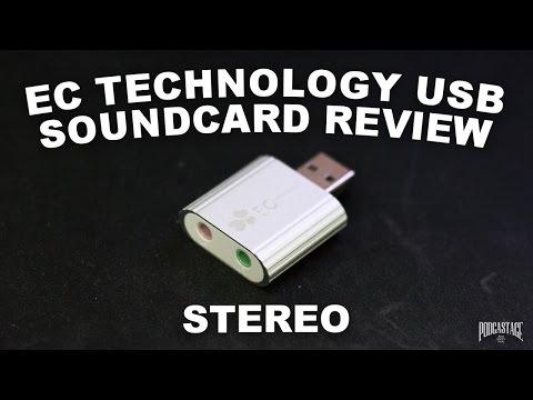 EC Technology Aluminum USB Sound Card Review / Sound Test