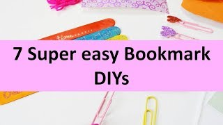How to make bookmarks ? 7 super easy bookmark diys | Learning Process