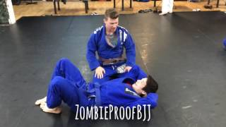 Baseball Bat Choke From Bottom Side - ZombieProofBJJ (Gi)