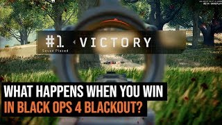 What Happens When You Win In Call of Duty Black Ops 4 Blackout?