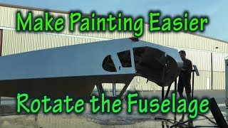 Make Painting your Homebuilt Aircraft Easier with a Rotating Fuselage