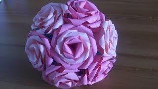 Оригами Роза Из Бумаги, Простые Цветы.