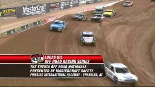 <b>Lucas Oil Off Road Racing</b>  2011  Round 1  Pro 4 Unlimited & Pro 2 Unlimited