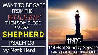 Psalm 23-Want to be safer from the wolves? Then stay close to the Shepherd