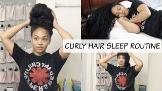 My Curly Hair Sleep Routine | For Long Curly Hair