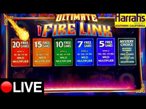 Live Stream! High  Limit Lighting Link & Ultimate Fire Link Slot Play W/NG Slot! Harrah's CASINO
