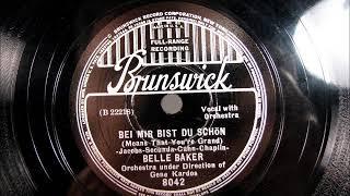 BEI MIR BIST DU SCHON by Gene Kardos vocal Belle Baker 1937