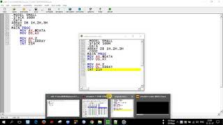 Assembly Language Programming-Array Declaration and Display