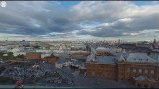 Видео 360: таймлапс вида из студии RT на крыше Four Seasons в Москве