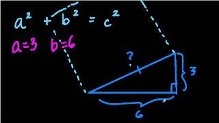 Finding The Hypotenuse Of A Right Triangle